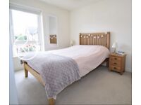 Solid Oak double bed frame and 2 side cabinets