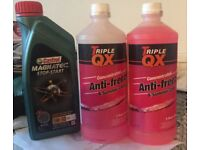 Antifreeze and engine oil