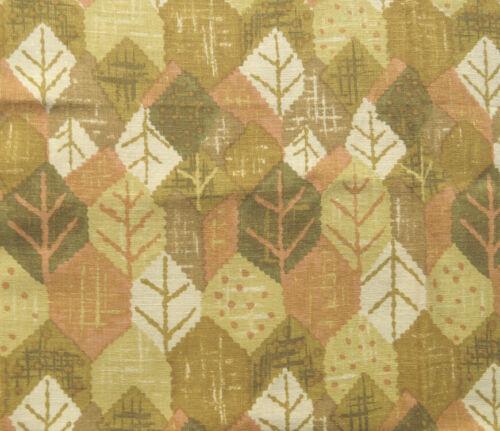 Elegant Hand Print Vat Dyed Leaf Motif Linen Fabric