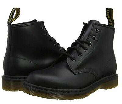 NEW Dr. Martens Men's 101 24255001 6-Eye Black Smooth Leather Boot Shoes