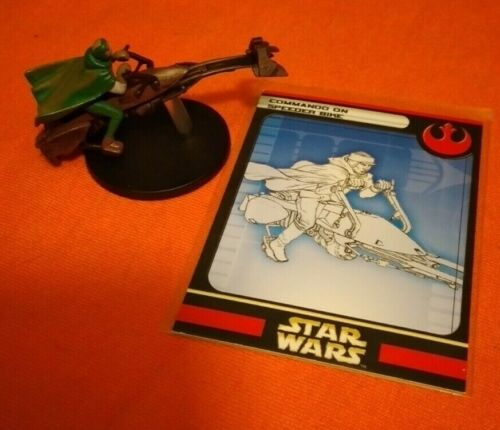 COMMANDO ON SPEEDER BIKE #4 Star Wars Miniatures Rebel Storm army builder