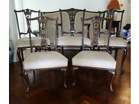 Antique Edwardian Mahogany Nursing Chairs x 2 Low Armchair Ladies Fireside C1905