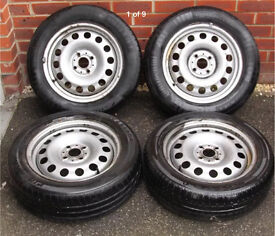Mini One Steel Wheels & Tyres 2008 175/65/15 Continental & Firestone Part Wo