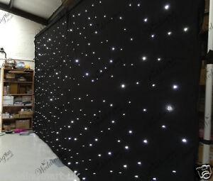20ft Black LED Starlight Backdrop Curtain for Wedding