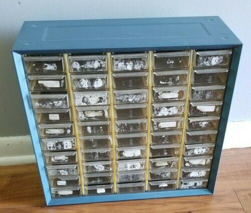 Vintage Akro-Mils 50 Drawer Metal Parts cabinet 4/4