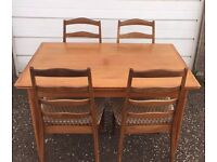 Vintage solid wood John Lewis Extendable Table and matching 4 x chair set - £70 FREE DELIVERY EDIN