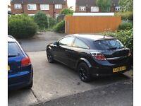 Vauxhall Astra 1.4 Sxi 2006 black with satin matte black rims