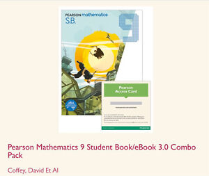 Brand New Pearson 9 Mathematics Combo Pack Butler Wanneroo Area Preview