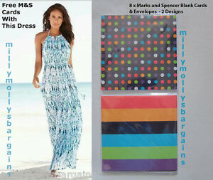 New-Blue-White-Maxi-NEXT-Dress-Size-22-20-18-16-14-12-10-8-6-Tall-Petite-RRP-50