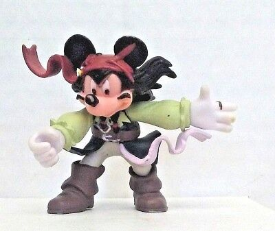 Disney Mickey Mouse Jack Sparrow Pirates of the Caribbean PVC Figure 3in Loose