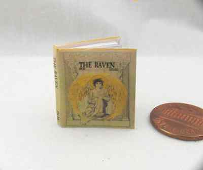 (THE RAVEN Miniature Book Dollhouse 1:12 Scale Readable Illustrated Book POE)