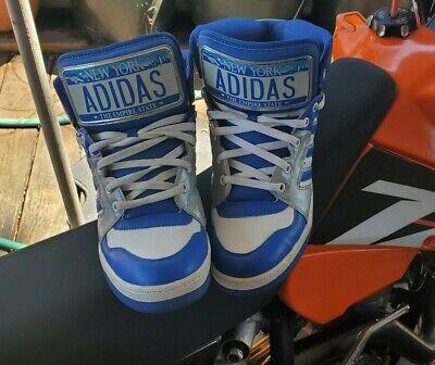 Adidas Jeremy Scott Instinct License Plate Rare Used Worn Trashed Skater Size...