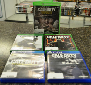 Call of Duty games for sale at First Stop Swap Shop
