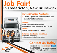 Job Fair Class 1 Owner Operators and Drivers Fredericton, NB