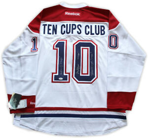 Cournoyer, Beliveau, Richard signed Montreal Canadiens jersey
