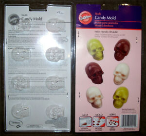 Halloween Skull Baking +Candy Molds ~50% Off Sale!