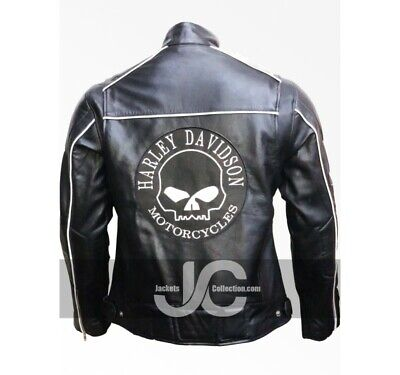 Jackets Collection Willie G Skull Black Biker Real Leather Jacket