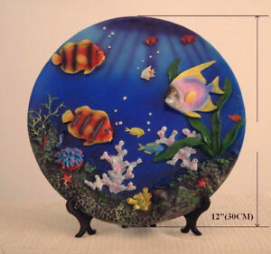 Ocean view decoration plate (Brand new)
