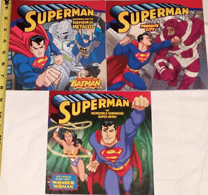 Qty 3 x Superman Comic Books with Wonder Woman & Batman