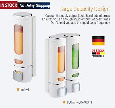 Doppel Seifenspender Wandmontage Shampoo Spender 800ml Seife Soap Dispenser