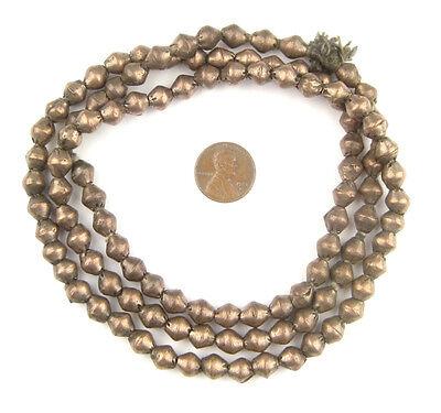 African Vintage White Metal Ethiopian Bicone Beads (8x7mm) Ethiopia