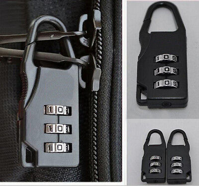 Travel Luggage Suitcase Combination Lock Padlocks Bag Password Digit Code QY
