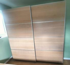 Ikea large double sliding wardrobe