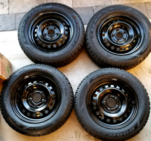 """15"""" Goodyear Winter Rims and Tires 205/60/15"""