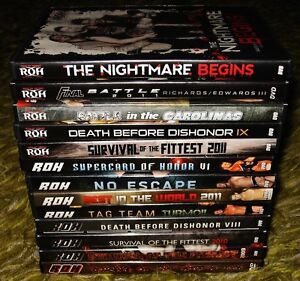 Wrestling DVD's 40 available ROH TNA WCW WWE includes disc sets Prince George British Columbia image 4
