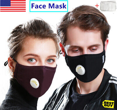 Face Mask Anti Air Pollution Protective Mouth Masks Cover Shield With 2 Filters