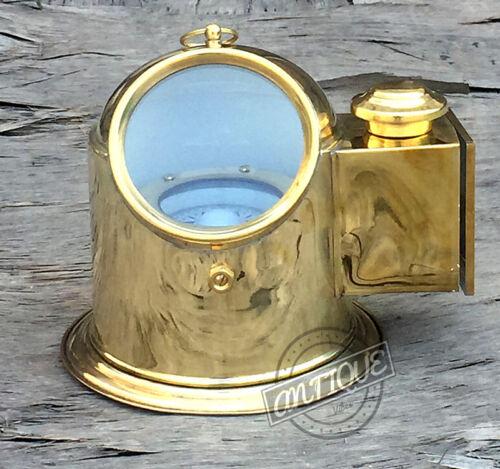 Vintage Naval/Marine Oil Lamp Gimballed Compass Binnacle Head Float Titanic