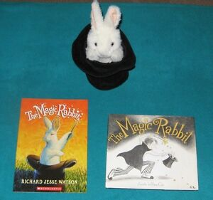 The Magic Rabbit Book Collection and Rabbit in a Hat Puppet