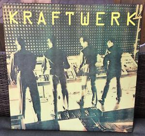 KRAFTWERK rare mounted COMPUTER WORLD promo poster WARNER LABEL