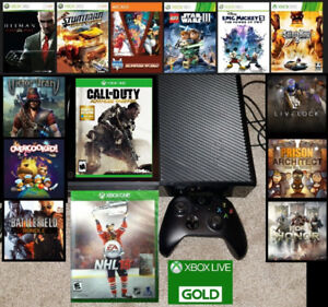 XBOX One 500gb bundle w games and LIVE Trade for PS4 bundle