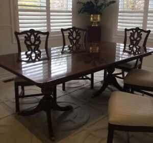 Cherry Wood Formal Dining Room Table