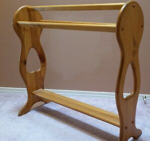 Beautiful Solid Wood Blanket, Towel or Quilt Rack or Stand