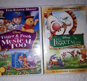 Tiger and Pooh DVDs - 3 Disc.