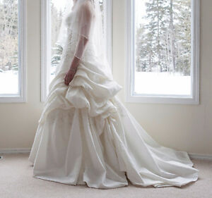Wedding Dress and Matching Boots