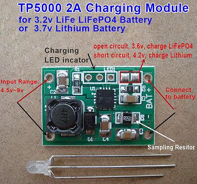 Tp5000 3.6v4.2v Charger Module 3.7v Lithium Ion 3.2v Lifepo4 Battery Charging