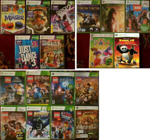 XBOX 360 Kinect and Kids Games (Various Prices) '
