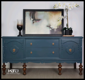 Gorgeous Refinished Sideboard/Buffet - Ajax