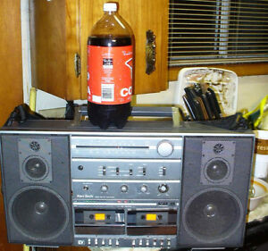 1980s and 90's ghetto blaster radio. small and larg