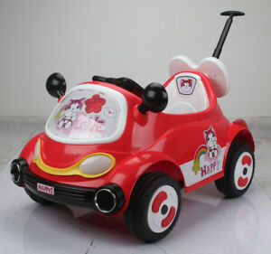 12V Child Ride On Car with Push Bar, Remote Controller more
