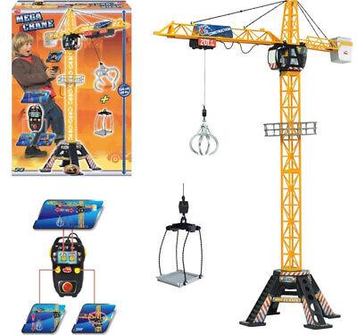 DICKIE TOYS Mega Crane Kran Spielzeug Fernsteuerung 120cm Baustelle 203462412