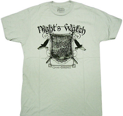 HBO'S Game of Thrones - Nights Watch Oath Adult T-Shirt -Licensed American Drama](Hbo Adult)