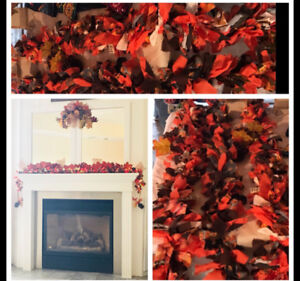Fall Rag Garland comes in 6 ft lengths