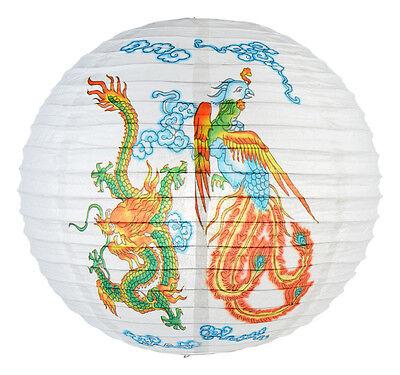 16'' Dia Japanese Chinese Dragon Phoneix Home Wedding Party Decor Paper Lantern