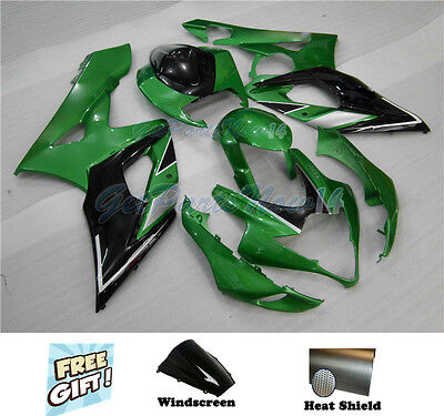 Fit for Suzuki GSXR 1000 05-06 K5 Green Black ABS Injection Fairing Plastic h35 for sale  Shipping to Canada