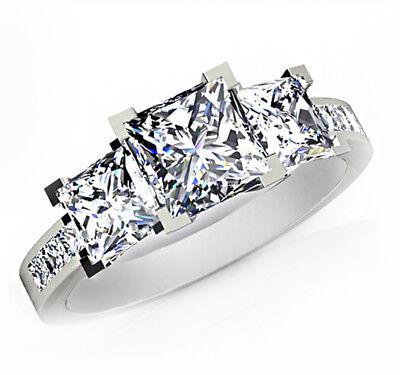 3 Ct. Princess Cut GIA Certified Ladies Diamond Engagement Best Seller Ring