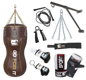 4FT REAL LEATHER BODY BAG INC GLOVES /PUNCHBAG,BOXING,